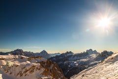Italiano Dolomiti pronto per la stagione dello sci Immagine Stock