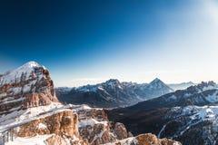 Italiano Dolomiti pronto per la stagione dello sci Fotografia Stock Libera da Diritti
