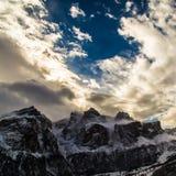 Italiano Dolomiti pronto per la stagione dello sci Fotografie Stock Libere da Diritti