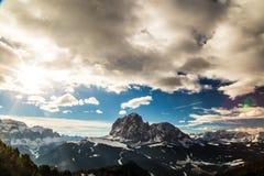 Italiano Dolomiti pronto per la stagione dello sci Fotografia Stock