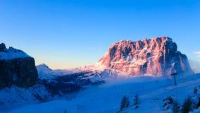 Italiano Dolomiti pronto per la stagione dello sci Immagine Stock Libera da Diritti
