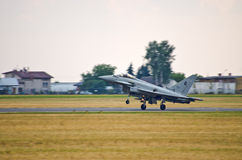 Italiano Eurofighter Typhoon em Radom Airshow, Polônia Imagem de Stock Royalty Free