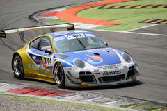 Italiano GT 2015 de Ebimotors Porsche 997 em Monza Fotografia de Stock