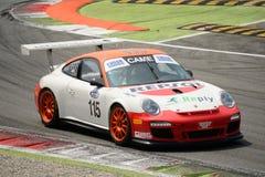 Italiano GT 2015 de Porsche 997 del Motorsport de Ghinzani Arco en Monza Fotos de archivo libres de regalías