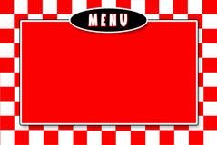Italiano-Menü roter weißer checkerd Hintergrund Lizenzfreie Stockfotos