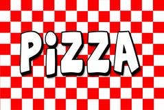 Italiano-Menü roter weißer checkerd Hintergrund Stockbild