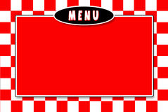 Italiano Menu Red white checkerd Background. Red and white checkered background with oval Royalty Free Stock Photos