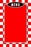 Italiano Menu Red white checkerd Background Royalty Free Stock Image