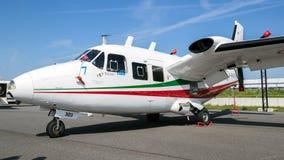 Italiano PIAGGIO P aviões das hélices do empurrador dos motores do gêmeo 166C Fotos de Stock Royalty Free