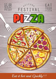 Italiano Pizza poster background Royalty Free Stock Images