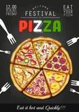 Italiano Pizza poster background Stock Photos