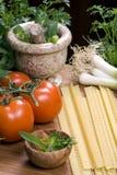 Italiano que cocina 003 Imagenes de archivo