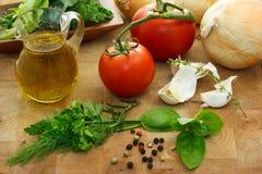 Italiano que cocina los ingredientes Foto de archivo