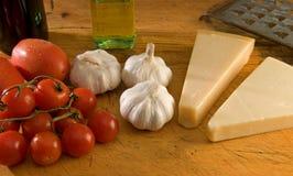 Italiano que cocina los ingredientes fotos de archivo