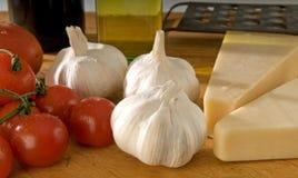 Italiano que cocina los ingredientes fotografía de archivo