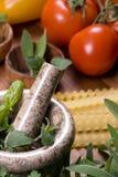 Italiano que cozinha 002 Imagem de Stock