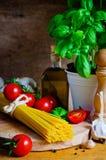Italiano que cozinha ainda a vida Fotos de Stock