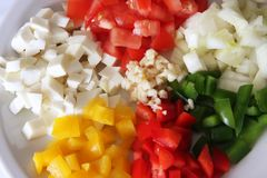 Italiano que cozinha ingredientes Fotos de Stock Royalty Free