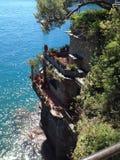 Italiano Riviera de la costa de Portofino imagen de archivo libre de regalías