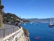 Italiano Riviera de la costa de Portofino imagenes de archivo