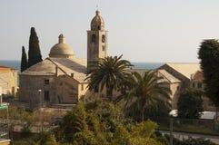 Italiano Riviera, iglesia de Varigotti Fotografía de archivo libre de regalías