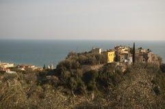 Italiano Riviera, Varigotti, ciudad vieja Imágenes de archivo libres de regalías