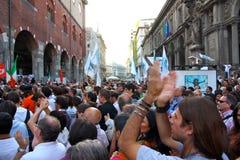 Italians rally for press freedom Stock Photos