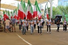 Italians   show Milan,milano expo 2015. Italians Expo 2015 milan, milano,feeding the planet-energy for life Royalty Free Stock Photography