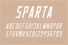 Italic alphabet letters and numbers. vector, retro font type Royalty Free Stock Image