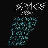 Italic space font Stock Photo