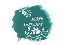 Italic white New Year greetings on bright green Royalty Free Stock Images