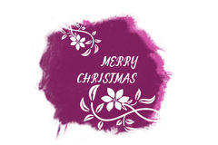 Italic white New Year greetings on bright purple Royalty Free Stock Image