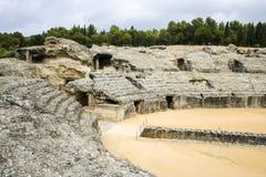 Italica的,安大路西亚,西班牙罗马圆形露天剧场 免版税库存照片