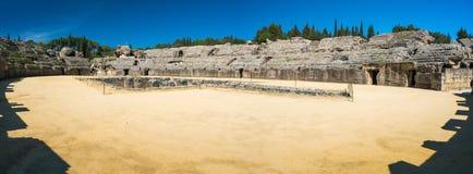 Italica Romańskie ruiny, Hiszpania fotografia royalty free