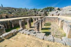Italica Roman Ruins Spanien royaltyfria bilder