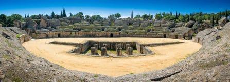 Italica Roman Ruins Spanien arkivfoto