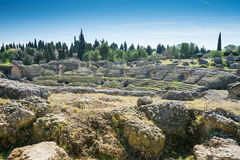 Italica Roman Ruins, Spanien Stockfotos