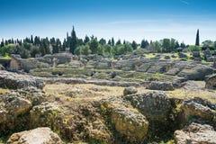 Italica Roman Ruins, Spanje Stock Foto's