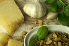 Italien蓬蒿pesto调味汁 免版税库存图片