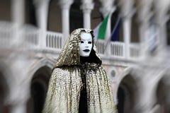 """Italien-†""""Venezia - Karneval - unheimliche Maske Lizenzfreie Stockbilder"""