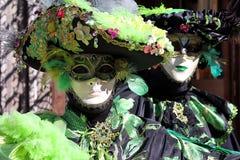 """Italien †""""Venezia - karneval - grön maskering Royaltyfri Foto"""