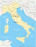 Italien översikt stock illustrationer