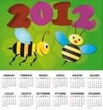 Italien 2012 de calendrier d'abeille Images stock