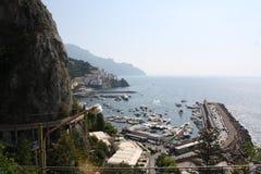 Italien Amalfi feriesemesterort Royaltyfri Fotografi