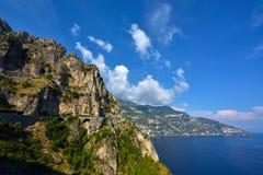 Italien Amalfi kust Arkivfoton