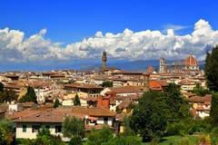 Italien Ansicht über Florenz vom Giardino-delle Rose Lizenzfreie Stockfotografie