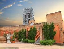 Italien-Artweinlese der schönen Gebäude alte der Abend Lizenzfreie Stockfotos