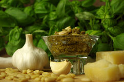 Italien basil pesto sauce Royalty Free Stock Images