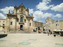 Italien Basilikata Matera, UNESCO-Standort und europäische Kultur-Hauptstadt 2019 lizenzfreies stockbild