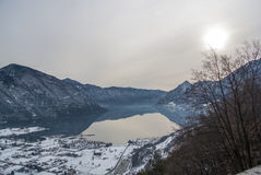 Italien, Brescia - See Idro schneebedeckt Lizenzfreie Stockbilder